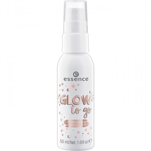 Essence - GLOW to go - Illuminating Setting Spray - Rozświetlający spray utrwalający makijaż