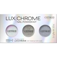 Catrice - LUX CHROME - NAIL POWDER KIT - Zestaw 3 pudrów do paznokci