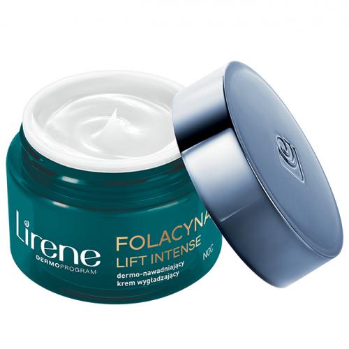 Lirene - FOLACYNA LIFT INTENSE - Dermo-nawadniający krem wygładzający na noc 40+