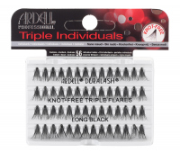 ARDELL - Triple Individuals Cluster Eyelashes - KNOT-FREE TRIPLE FLARES - LONG BLACK - KNOT-FREE TRIPLE FLARES - LONG BLACK