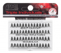 ARDELL - Triple Individuals Cluster Eyelashes - KNOT-FREE TRIPLE FLARES - MEDIUM BLACK - KNOT-FREE TRIPLE FLARES - MEDIUM BLACK
