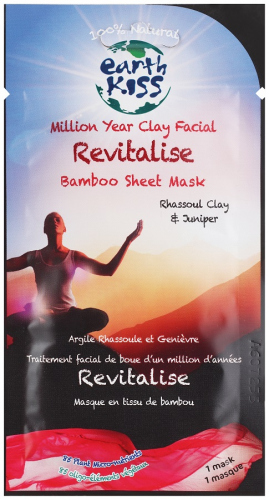 Earth Kiss - Million Year Clay Facial Revitalize Bamboo Sheet Mask