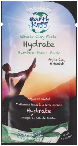 Earth Kiss - Miracle Clay Facial Hydrate Bamboo Sheet Mask