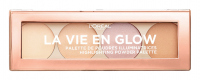 L'Oréal - LA VIE EN GLOW - HIGHLIGHTING POWDER PALETTE - Paleta 4 rozświetlaczy do twarzy
