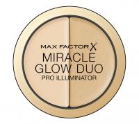Max Factor - MIRACLE GLOW DUO - PRO ILLUMINATOR - Kremowy rozświetlacz i korektor  - 10 LIGHT - 10 LIGHT