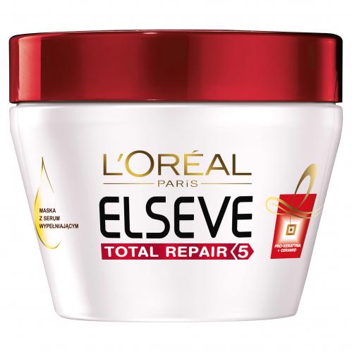 L'Oréal - ELSEVE - Total Repair 5 - Intensywnie odbudowująca maska do włosów zniszczonych - 300ml