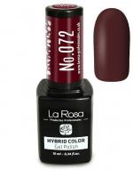 La Rosa - HYBRID COLOR - GEL POLISH - Lakier hybrydowy - 072 - 072