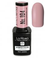 La Rosa - HYBRID COLOR - GEL POLISH - Lakier hybrydowy - 104 - 104