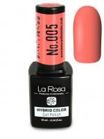 La Rosa - HYBRID COLOR - GEL POLISH - Lakier hybrydowy - 005 - 005