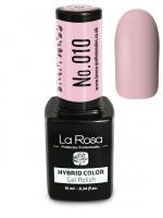 La Rosa - HYBRID COLOR - GEL POLISH - Lakier hybrydowy - 010 - 010