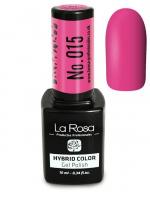 La Rosa - HYBRID COLOR - GEL POLISH - Lakier hybrydowy - 015 - 015