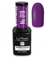 La Rosa - HYBRID COLOR - GEL POLISH - Lakier hybrydowy - 019 - 019