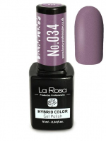 La Rosa - HYBRID COLOR - GEL POLISH - Lakier hybrydowy - 034 - 034