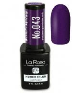 La Rosa - HYBRID COLOR - GEL POLISH - Lakier hybrydowy - 043 - 043