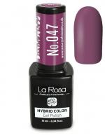 La Rosa - HYBRID COLOR - GEL POLISH - Lakier hybrydowy - 047 - 047