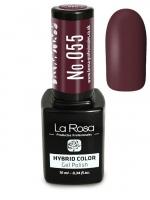 La Rosa - HYBRID COLOR - GEL POLISH - Lakier hybrydowy - 055 - 055