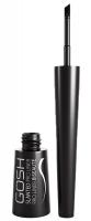 Gosh - WATERPROOF SLANTED PRO LINER - Wodoodporny eyeliner w płynie - 001 Intense Black