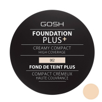 Gosh - FOUNDATION PLUS+ - CREAMY COMPACT - Kremowy podkład w kompakcie - 002 - IVORY - 002 - IVORY