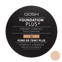 Gosh - FOUNDATION PLUS+ - CREAMY COMPACT - Kremowy podkład w kompakcie - 006 - HONEY - 006 - HONEY