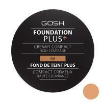 Gosh - FOUNDATION PLUS+ - CREAMY COMPACT - Kremowy podkład w kompakcie - 008 - GOLDEN - 008 - GOLDEN