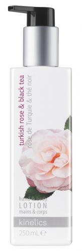 Kinetics - Hand & Body Lotion - Odżywczy balsam do rąk i ciała - Turkish Rose & Black Tea - 250ml
