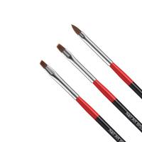 Nail Art Brush - Zestaw 3 pędzelków do zdobień paznokci