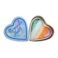 I Heart Revolution - Mermaid`s Heart - Highlighter - Tęczowy rozświetlacz do twarzy