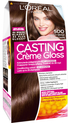 L'Oréal - Casting Creme Gloss - Casting Créme Gloss - 500 LIGHT BROWN