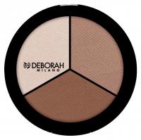 DEBORAH - Secrets Of Contouring - TRIO CONTOURING PALETTE - Paleta do konturowania twarzy