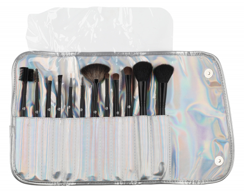 W7 - PRO - Professional Brushes - Silver Collection - Zestaw 12 pędzli do makijażu