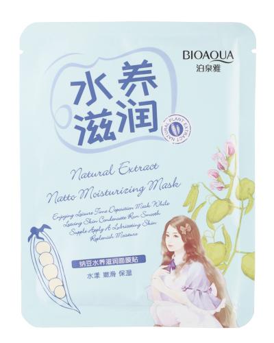 BIOAQUA - Natural Extract Natto Moisturizing Mask - Maseczka do twarzy w płacie z ekstraktem z natto