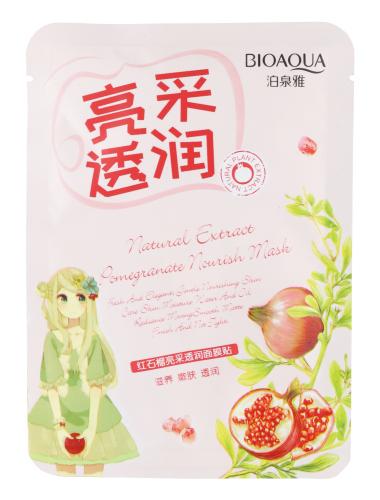 BIOAQUA - Natural Extract Pomegranate Nourish Mask - Maseczka do twarzy w płacie z ekstraktem z granatu