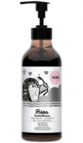 YOPE - NATURAL SHOWER GEL - Rose and boswellia