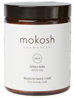 MOKOSH - WHITE CLAY - FACE & BODY MASK - Maseczka na twarz i ciało - Glinka biała - 180 ml