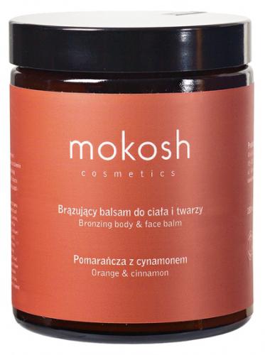 MOKOSH - BRONZING BODY BALM - ORANGE & CINNAMON - Balsam brązujący do ciała i twarzy - Pomarańcza z cynamonem - 180 ml