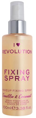 I LOVE MAKEUP - REVOLUTION - FIXING SPRAY - VANILLA & COCONUT - Spray utrwalający makijaż o zapachu wanilii i kokosa
