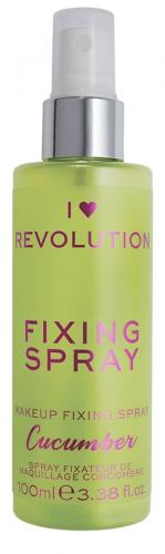I Heart Revolution - REVOLUTION - FIXING SPRAY - CUCUMBER - Spray utrwalający makijaż o zapachu ogórka