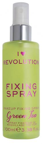 I Heart Revolution - FIXING SPRAY - GREEN TEA - Spray utrwalający makijaż o zapachu zielonej herbaty