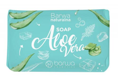BARWA - BARWA NATURALNA - Aloe Vera SOAP - Mydło w kostce - Aloesowe