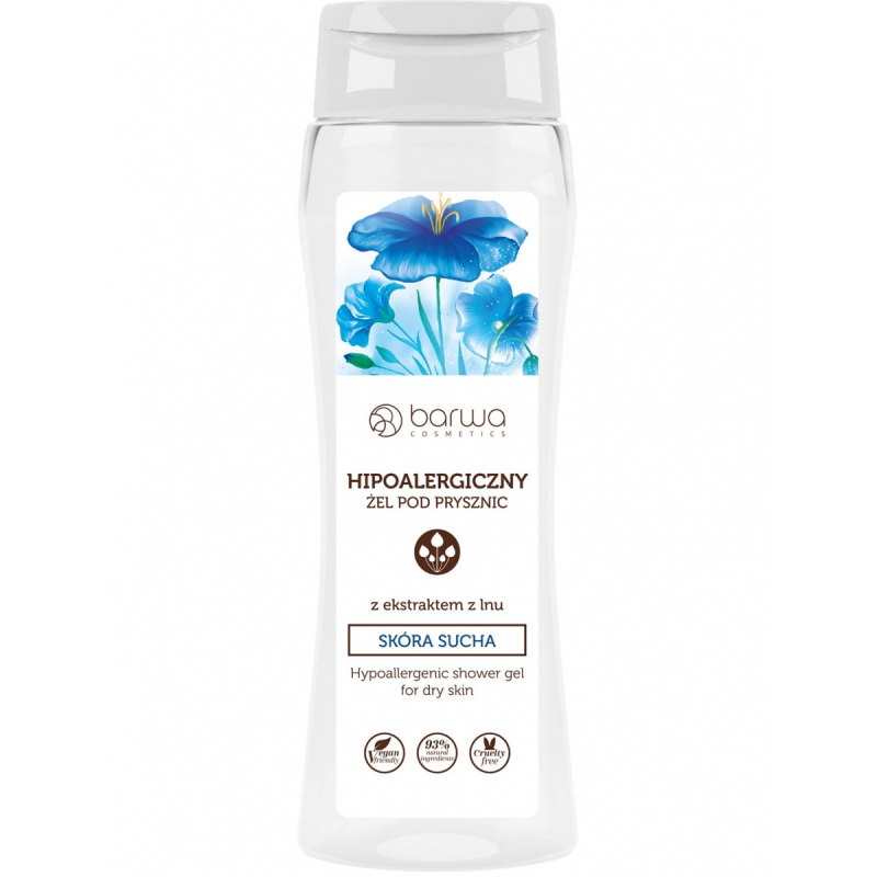Barwa Hypoallergenic Shower Gel With Flax Extract