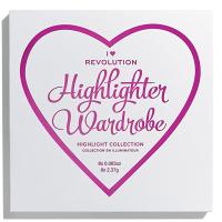 I Heart Revolution - REVOLUTION - HIGHLIGHTER WARDROBE - Zestaw 8 rozświetlaczy
