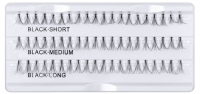 Inter-Vion - cluster eyelashes with glue - FLARE LONG, MEDIUM, SHORT BLACK - FLARE LONG, MEDIUM, SHORT BLACK