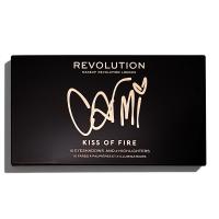 MAKEUP REVOLUTION - X CARMI - KISS OF FIRE PALETTE - Paleta do makijażu