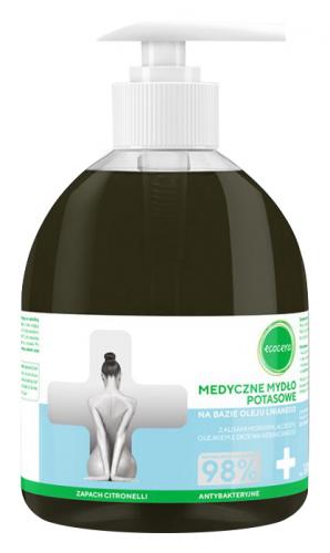Ecocera - MEDICAL POTASSIC SOAP - Based on linseed oil with marine algae and aloe
