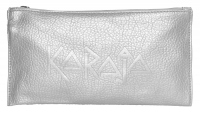 Karaja - Silver Cosmetic Bag - Faux-leather