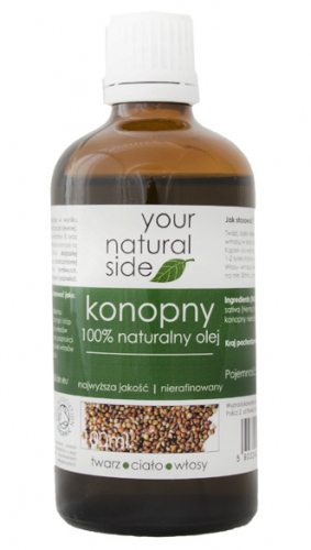Your Natural Side - 100% naturalny olej konopny - 100 ml
