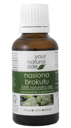 Your Natural Side - 100% naturalny olej z nasion brokułu - 30 ml