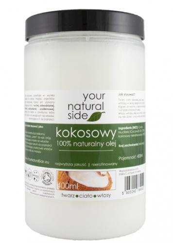 Your Natural Side - 100% naturalny olej kokosowy - Nierafinowany - 400 ml