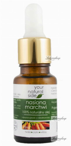 Your Natural Side - 100% naturalny olej z nasion marchwi - 10 ml