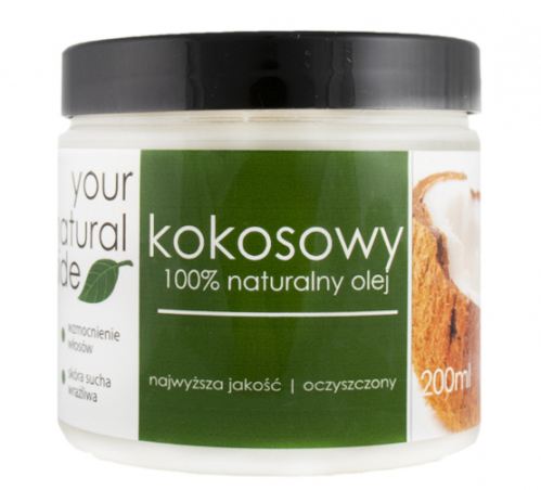 Your Natural Side - 100% Natural Coconut Oil - Purified - 200 ml